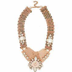 11e7c1a8bac6  River Island Rose gold tone statement necklace £22.00 Floral Necklace