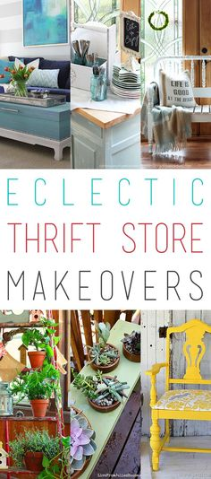 This weeks Thrift Store Makeover Collection is a bit eclectic. Featuring a Cottage Chic Chair Makeover…a Wooden Bowl Transformation…a Headboard Bench and so much more. We love sharing these creations with you and adore the fact that so many items that w Chair Makeover, Furniture Makeover, Diy Furniture, Outdoor Furniture Sets, Quality Furniture, Painted Furniture, Refinished Furniture, Furniture Design, Thrift Store Shopping