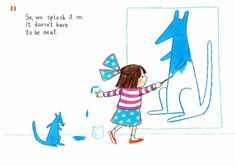 How to draw… blue kangaroo | Children's books | The Guardian Book Sites, You Draw, The Guardian, Kangaroo, Childrens Books, Lily, Drawings, Blue, Fictional Characters