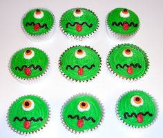 Monster cupcakes for Isaac's Monster Bash!