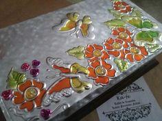 Aluminum Foil Crafts, Metal Embossing, Indian Folk Art, Copper Art, Altars, Metal Art, Diorama, Pewter, Tin