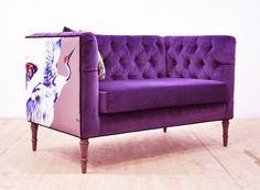Amor de loveseat púrpura por namedesignstudio en Etsy