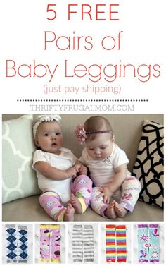 5 Free Pairs of Baby Leggings!!! So adorable and lots of cute designs to choose from. They make great baby gifts too!