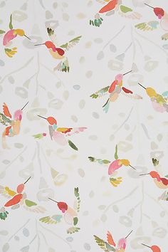 Plumed Crest Wallpaper - anthropologie.com