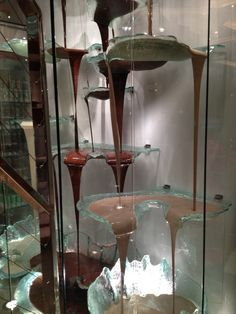 The world's largest chocolate fountain made of Lalique crystal and Italian chocolate - the Bellagio Hotel, Las Vegas (about 1/3 is pictured)
