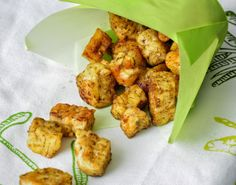 Tempeh Croutons. Eat on a salad or alone as a snack. Delicious!