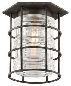 "Troy C3790 Brunswick Aged Pewter Finish 12"" Wide Exterior Ceiling Lighting - TRO-C3790"