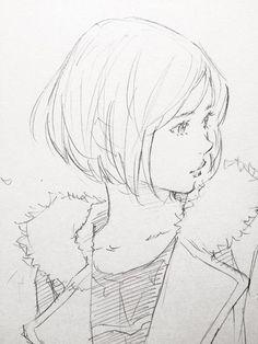 Art by 窪之内英策 Eisaku Kubonouchi* Manga Drawing, Manga Art, Drawing Sketches, Pencil Drawings, Art Drawings, Art And Illustration, Wie Zeichnet Man Manga, Arte Sketchbook, Anime Sketch
