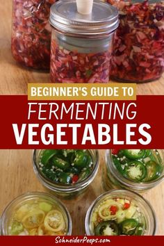 Do you want to learn how to ferment vegetables but are intimidated by it? Use this simple beginner's guide to get started today. Learn how easy it is to preserve food with brine. These foods are delicious and very healing to the gut. #PreservingFood  #FromScratch #Homesteading
