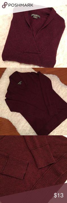 Eddie Bauer folded collar v-neck sweater - M Shawl pullover from Eddie Bauer. Size Medium. In very good shape! Eddie Bauer Sweaters