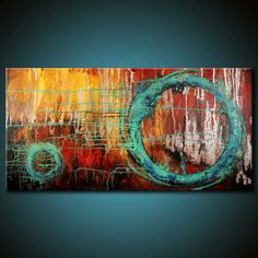 Abstract Art with blue wheels. Motion art in an abstract design. www.sacredbybrandy.com