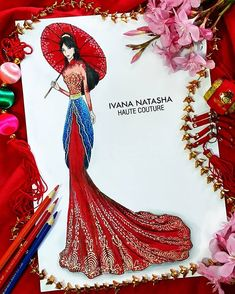 Mulan by Ivana Natasha Sad Disney, Disney Fan Art, Cute Disney, Disney Theme, Disney Pins, Disney Princess Fashion, Disney Princess Dresses, Disney Style, Disney Fashion