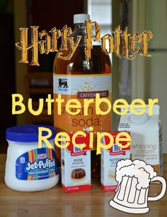 Harry Potter Butterbeer Recipe. Blue Eyes, Gray Eyes. #HarryPotter