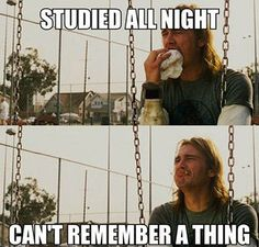 The pain before the final exams.