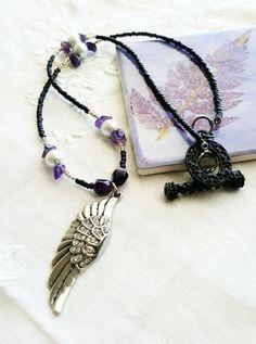 Amethyst Angel Necklace by GemsbyJoniH on Etsy