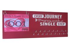 Every journey begins with a single step Love this running medal holder! Makes the perfect gifts for any runner. only $39.99 at runningonthewall.com #MUST #Chistmas list.