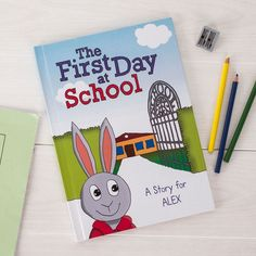 This adorable book will help a little one to see what their first day at school might be like | Personalised Book - The First Day at School | GettingPersonal.co.uk