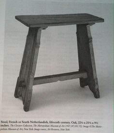 """Fifteenth Century Stool from """"Medieval & Renaissance Furniture"""""""