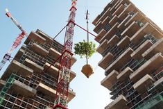 Bosco Verticale: The World's First Vertical Forest Nears Completion in Milan – NEW PHOTOS Boeri Studio - photo by Marco Garofalo – Inhabitat - Sustainable Design Innovation, Eco Architecture, Green Building Lausanne, Vertical Forest, Green Tower, Green Architecture, Contemporary Architecture, Futuristic Design, Environmental Design, Urban Farming, Green Building