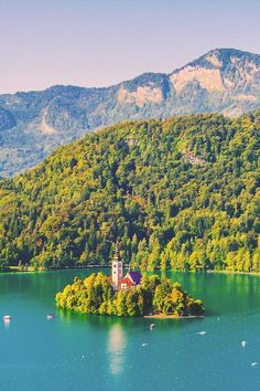 """The Church on the Island"",  Lake Bled, Slovenia."