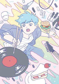 WORK for JJ LIN on Behance Boy Illustration, Graphic Design Illustration, Pretty Art, Cute Art, Manga Art, Anime Art, Jj Lin, Korean Art, Human Art