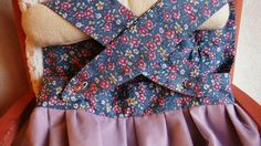 Girl dress / apron style sundress-  Blue floral and lavender tulle   - fits both 2T or 3T