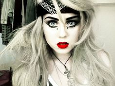full face rock makeup look at site so awesome