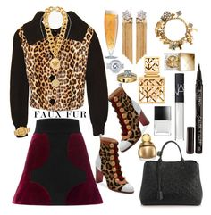 """Faux fur✨💫"" by seanahr ❤ liked on Polyvore featuring Versace, Eva Solo, Venna, Orit Elhanati, Annello, Tory Burch, Smith & Cult, Burberry, Roland Mouret and Christian Louboutin"