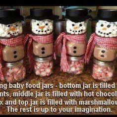 Christmas gift idea (snowmen)