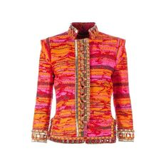 MATTHEW WILLIAMSON embroidered jacket (€3.062) found on Polyvore featuring outerwear, jackets, embroidered jackets, matthew williamson, red jacket and embroidery jackets