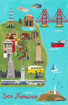 San Francisco City Map by Christina Song | GelaSkins