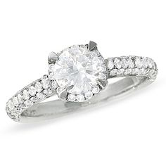 this is GORG. It's on clearance right now @ $2500 1-1/2 CT. T.W. Framed Pavé Diamond Ring in 14K White Gold - Clearance - Zales