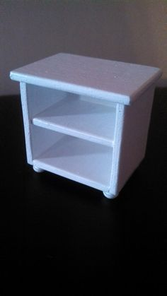 White Bedside Table/ 16 scale table/ 1 6 scale by DollsDelight