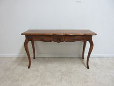 Ethan Allen Country French Carved Sofa Hall Foyer Console Serving Table A