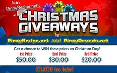 PinoyDesserts.net Christmas Promo
