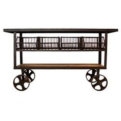 Industrial rolling cart storage