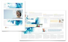 Business Consulting Brochure Template Design Print Collateral - Template of a brochure