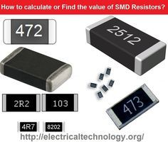 """Example of SMD Resistor Codes. SMD Resistor Chart Calculate & Find the value of SMD Resistor. 3-Digit SMD Resistor Codes 4-Digit & EIA-96 SMD Resistor Codes SMD Resistor stands for """"Surface Mount device"""" (Taken out from SMT = Surface Mount Technology) Resistor. These tiny chips are marked with three (3) or four (4) digit codes which is called SMD Resistor codes to indicate their resistance values."""