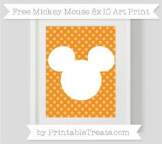 Free Carrot Orange Dotted Pattern Mickey Mouse 8x10 Art Print