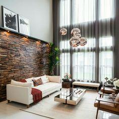 ▪ Living room c/ destaque para os pendentes em rose gold ▪ hhinspiration ▪ hhreferência ▪ interior design inspiration ▪