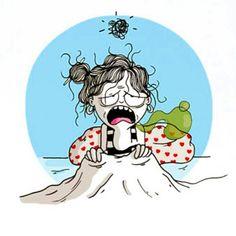 En cama... resfriada!  #Resfrío #agustinaguerrero #lavolatil #diariodeunavolátil…