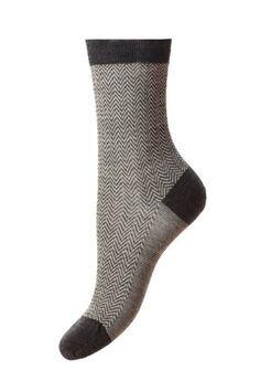 Campbell's of Beauly - Hatty Herringbone Sock Charcoal Ladies Socks, Herringbone, Tweed, Charcoal, Lady, Classic, Women, Fashion, Derby