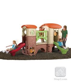 Clubhouse Climber - Your children will climb, slide, and crawl for hours exploring this large playhouse! Made in USA