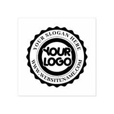 Custom Business Logo Large Rubber Stamp