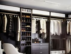 Man's walk-in closet