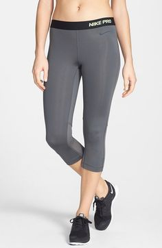 Nike 'Pro Hypercool' Dri-FIT Capris available at Tops For Leggings, Capri Leggings, Nike Pros, Nordstrom Credit, Snug, Elastic Waist, Tights, Fitness, Pants