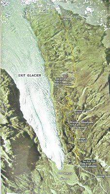 The Harding Ice Field Trail outside of Seward Alaska.  One of my top 5 favorite trails