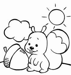 Djur Målarbilder för barn. Teckningar online till skriv ut. Nº 111