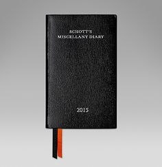 Schott's Diary in black goatskin, filled with Ben Schott's quips and quotes. #ScribeInStyle http://www.smythson.com/2015-schott-s-diary.html