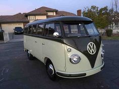 """1958 Volkswagen """"Palm Green Sand Green"""" Walk through Bus Birth Certificate from The Volkswagen Museum. Full Rotisserie Restoration with only 50 miles on bus since completed. New Everything. ..."""